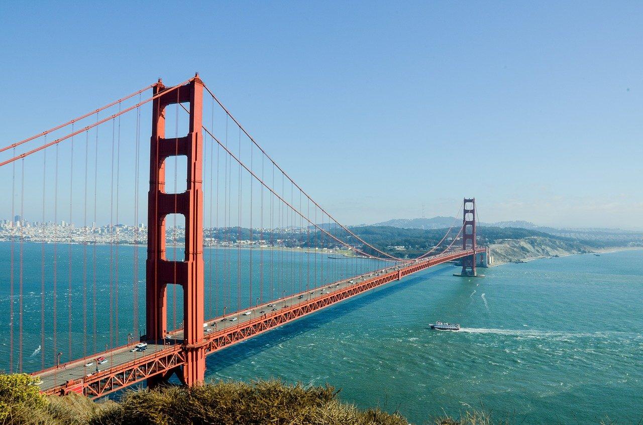 Pacific Coast Highway Golden Gate Bridge